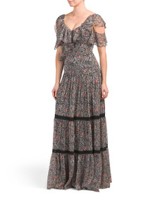 MIKAEL AGHAL Floral Maxi Dress