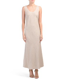 LAVINIA TEMPLE Made In Italy Criss Cross Linen Max