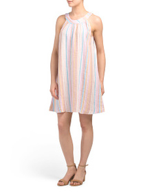 C&C CALIFORNIA Linen Atlantic Stripe Halter Swing