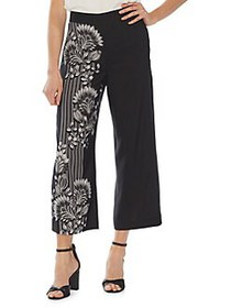 Vince Camuto Modern Rouge Floral Cropped Pants RIC