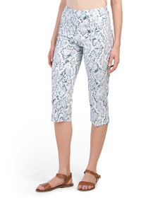 ZAC & RACHEL Petite Snakeskin Pull On Crop Pants
