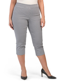 ELAINE ROSE Plus Cropped Stretch Pull On Pants