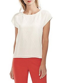 Vince Camuto Modern Rouge Jacquard Blouse NEW IVOR