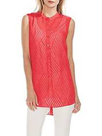 Vince Camuto Modern Rouge Stripe Jacquard Tunic CR
