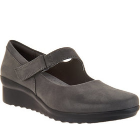 """As Is"" Clarks Cloud Steppers Wedge Mary Janes- Ca"