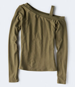 Aeropostale Long Sleeve Seriously Soft One-Shoulde