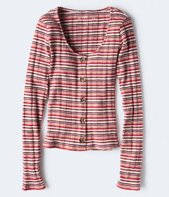 Aeropostale Long Sleeve Seriously Soft Buttoned St