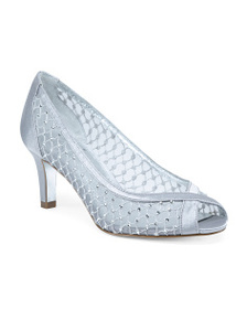 ADRIANNA PAPELL Peep Toe Pumps With Crystals And M