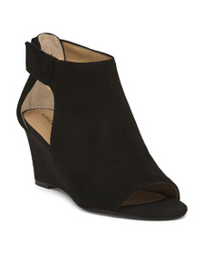 ADRIENNE VITTADINI Covered Suede Wedges