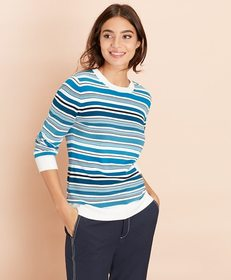 Brooks Brothers Striped Cotton Sweater