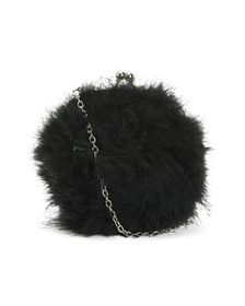 JOSEPH D'AREZZO Framed Feather Clutch With Removab