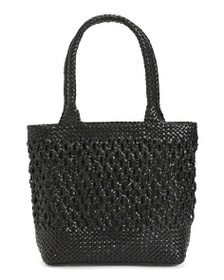 ROBERTO PANCANI Made In Italy Leather Nodo Woven T