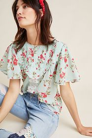 Anthropologie Blissful Floral Blouse