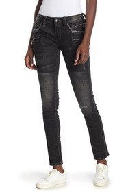 Rock Revival Skinny Distressed Zip Moto Jeans