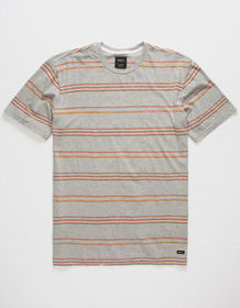 RVCA Avila Stripe Gray Mens T-Shirt_