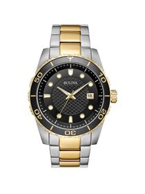 Sport Black Dial Two-tone Mens Watch 98A199