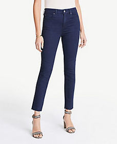 High Rise Straight Ankle Jeans In Evening Sea Wash