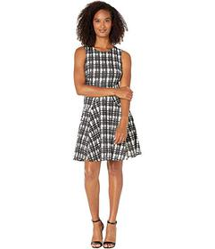 Tommy Hilfiger Grid Lace Fit-and-Flare Dress
