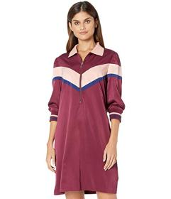 Juicy Couture Color Block Satin Track Dress