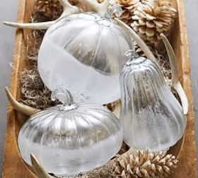 Pottery Barn Frosted Glass Pumpkin