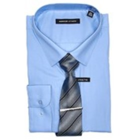 Mens 3-Piece Classic Fit Dress Shirt, Tie & Tiebar