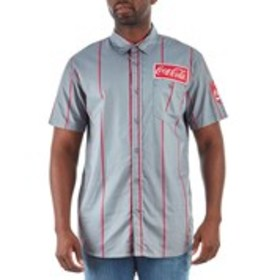 MAD ENGINE Mens Coco Cola Button Down Shirt