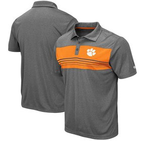 Clemson Tigers Colosseum Smithers Polo - Heathered