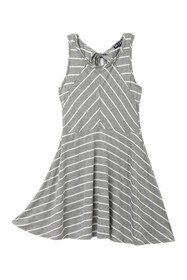 AVA AND YELLY Miter Front Stripe Skater Dress (Big