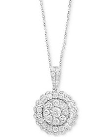 Rock Candy by EFFY® Halo Cluster Pendant Necklace