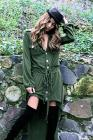 Nightcap Clothing Army Trench Dress in Stone
