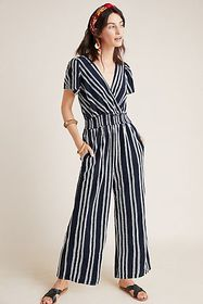 Anthropologie Canovas Striped Jumpsuit