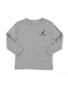 Nautica long sleeve graphic tee (2t-4t)