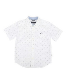 Nautica stretch allover print shirt (4-7)