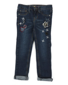 Lee animal patch convertible skinny jeans (4-6x)