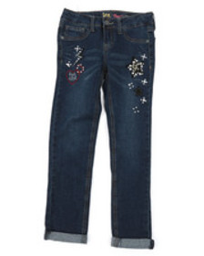 Lee aniimal patch convertible skinny jeans (7-14)