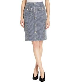 Juicy Couture Skinny Stripe Denim Skirt