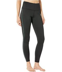Bebe Sport Logo Lurex Stripe Tape Leggings