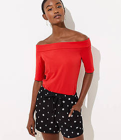 Elbow Sleeve Off The Shoulder Tee