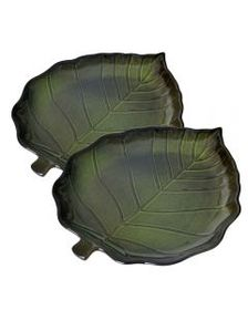 Pfaltzgraff Set of 2 Pastoral Leaves Leaf Shaped P