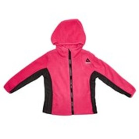 REEBOK Toddler Girls Mix Media Fleece Hooded Jacke