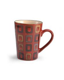 Pfaltzgraff Red Geometric Mug