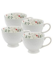 Pfaltzgraff Set of 4 Footed Mugs