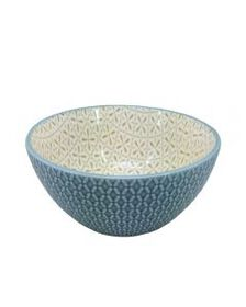 Pfaltzgraff Turquoise Geometric Soup Cereal Bowl