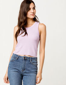 FULL TILT Thermal Lavender Womens Tank Top_