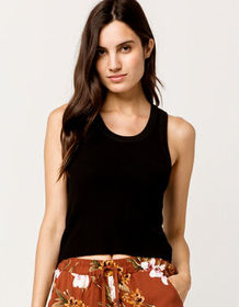 FULL TILT Thermal Black Womens Tank Top_
