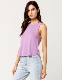 FULL TILT Shirt Tail Lavender Womens Tank Top_
