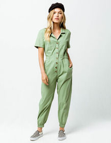 KNOW ONE CARES Utilitarian Womens Jumpsuit_