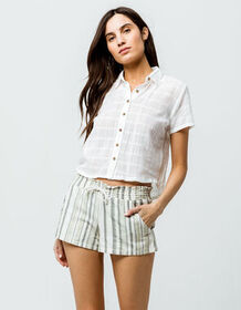 SKY AND SPARROW Stripe Womens Shorts_