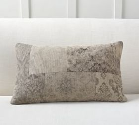 Pottery Barn Etienne Patchwork Lumbar Pillow Cover