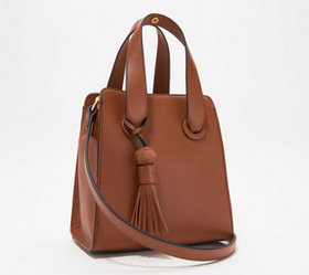 """As Is"" Vince Camuto Small Leather Satchel - Suni"
